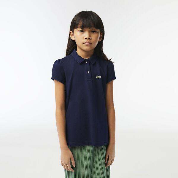 Girls Polo, NAVY BLUE, hi-res