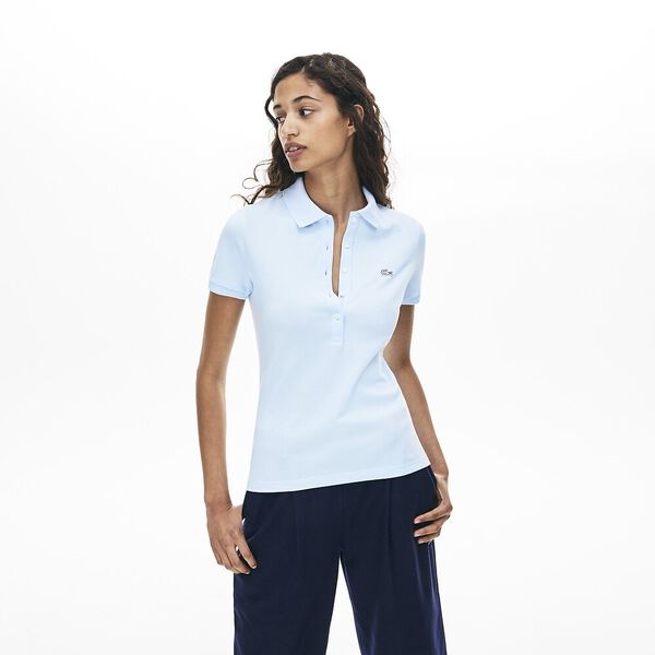 Women's 5 Button Slim Stretch Core Polo, RILL, hi-res