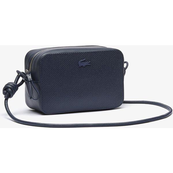 Women's Chantaco Matte Piqué Leather Shoulder Bag, ECLIPSE, hi-res