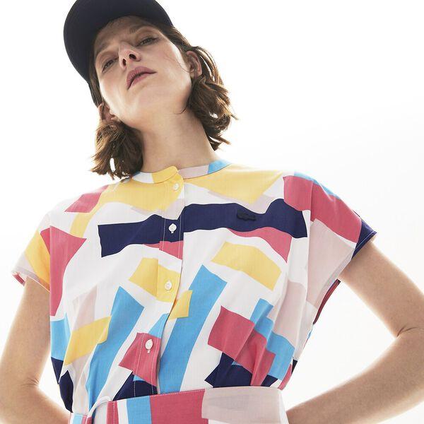 Women's Abstract-Print Shirtdress