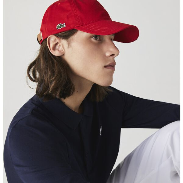 Contrast Strap Cotton Cap, ROUGE, hi-res