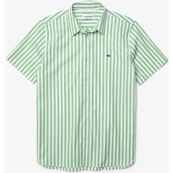 Men's Regular Fit Striped Poplin Shirt, WHITE/CHERVIL, hi-res