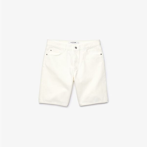 Men's Regular Fit Five-Pocket Jean Bermudas, FARINE, hi-res
