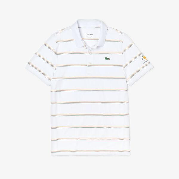 MEN'S PRESIDENTS CUP JERSEY POLO, WHITE/SOLSTICE YELLOW-POM, hi-res
