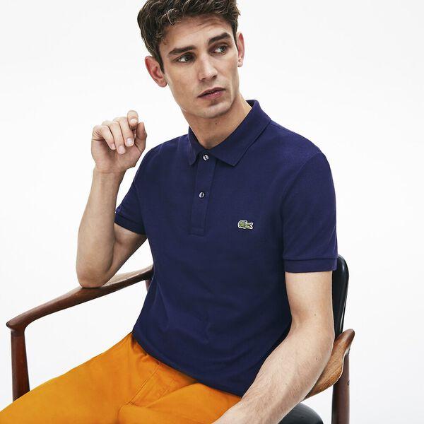 Men's Slim Fit Polo, NAVY BLUE, hi-res