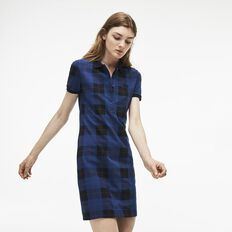 WOMEN'S TARTAN POLO DRESS