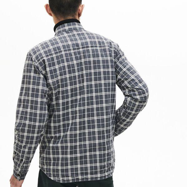 Men's Chic Long Sleeve Padded Check Overshirt, GRANITAL CHINE, hi-res