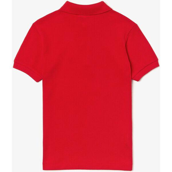 Kids' Petit Piqué Shirt, RED, hi-res