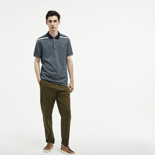 MEN'S MADE IN FRANCE CRUSHED PIQUE POLO, ACONIT/FLOUR/NAVY BLUE, hi-res