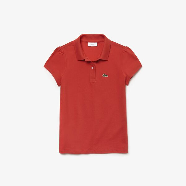 GIRLS SCALLOPED COLLAR POLO