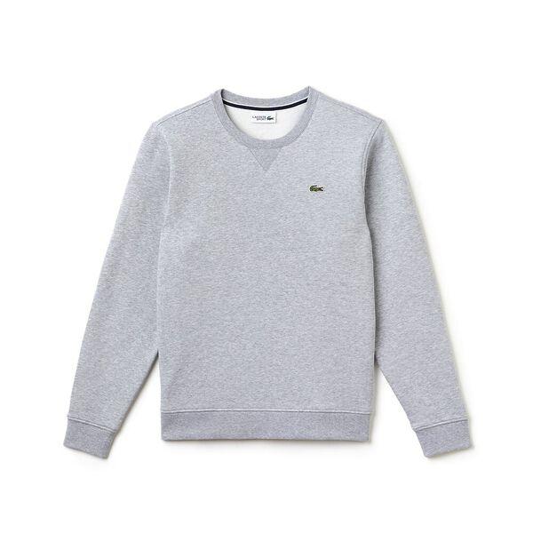 Men's Basic Crew Neck Sweatshirt, SILVER CHINE, hi-res