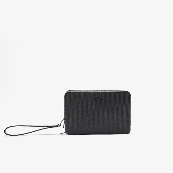 Men's Chantaco Piqué Leather Zip Pouch