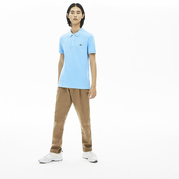 Men's Slim fit Lacoste Polo Shirt in petit piqué, BARBEAU, hi-res