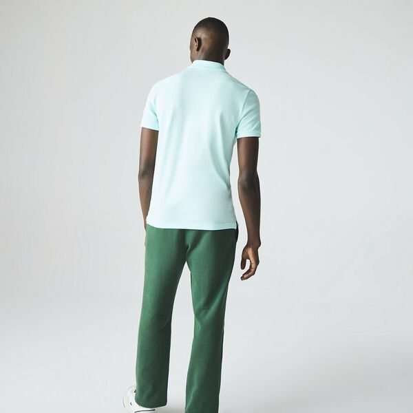 Men's Slim Fit Polo, TURQUOISE, hi-res