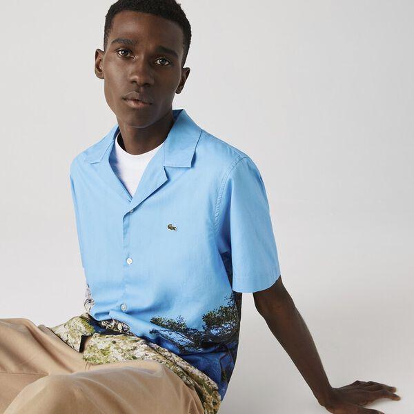 Men's Hawaiian Print Cotton Shirt, IBIZA/MULTICO, hi-res