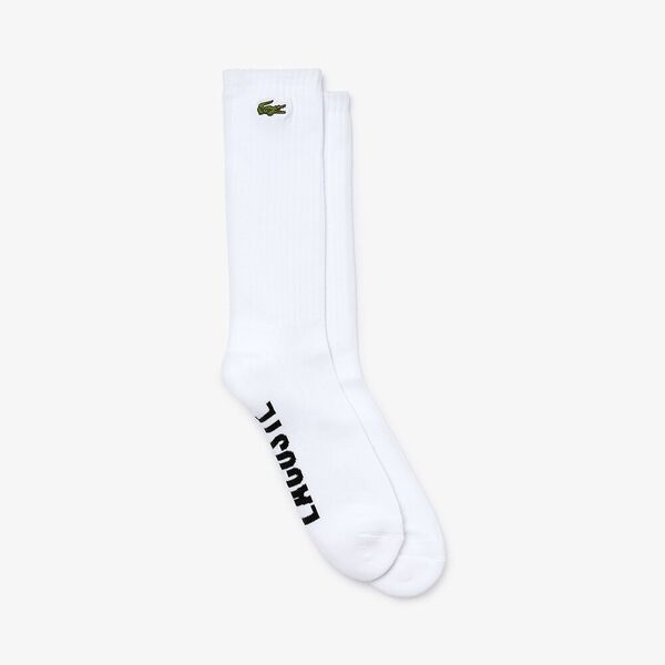 Unisex Lacoste LIVE Embroidered Tennis Player Ribbed Socks