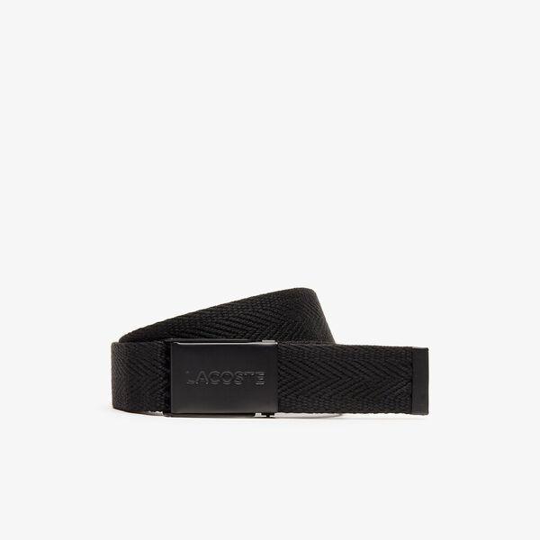Men's Casual 35Mm Woven Belt, BLACK, hi-res