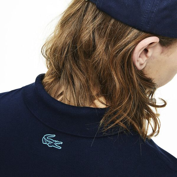 Men's Branded Cotton Polo Shirt, MARINE, hi-res