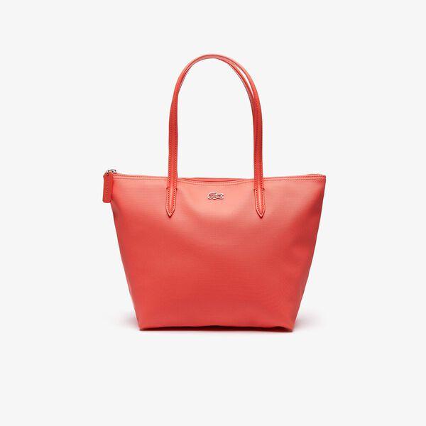 WOMEN'S L.12.12 SMALL SHOPPING BAG, CORAL, hi-res