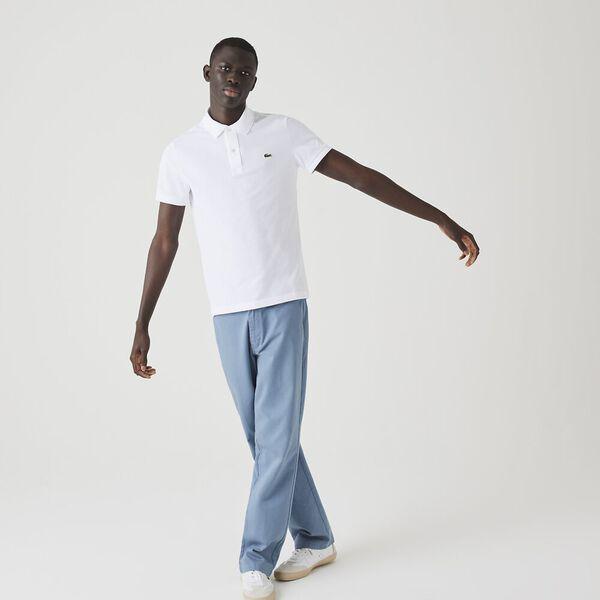 Men's Slim Fit Polo, WHITE, hi-res