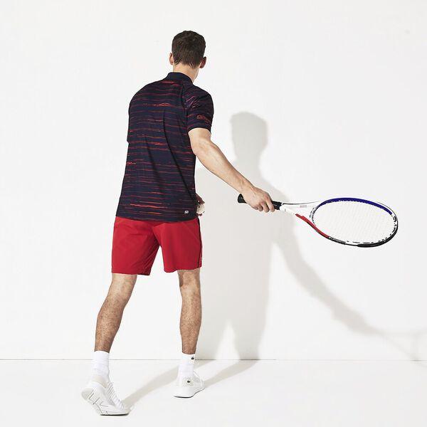 Men's Novak Djokovic Technical Jersey Polo, NAVY BLUE/TOKYO RED, hi-res