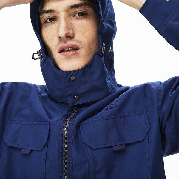 Men's Detachable Hood Ultra-Light Short Jacket, METHYLENE, hi-res