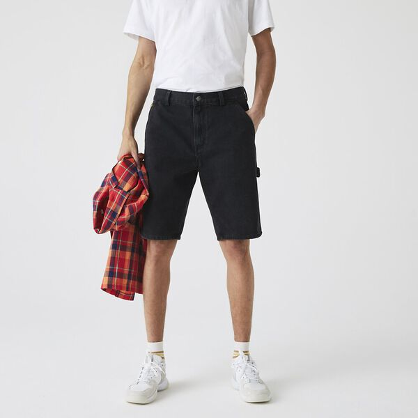 Men's LIVE Denim Bermuda Shorts, BLACK, hi-res